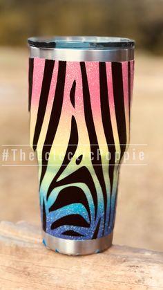 be6d98e43cb Rainbow Iridescent High-flash Glitter. Lisa Frank Inspired Epoxy Tumblers