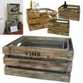 3er Set dekorative Weinkisten im Landhausstil-2