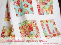 Marmalade Squares QuiltTutorial on the Moda Bake Shop. http://www.modabakeshop.com