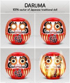 Daruma - vector of Japanese traditional doll - Characters Vectors