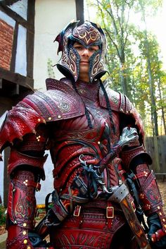 Unique custom leather armor, elaborate costumes, props, accessories & leather products for conventions, renaissance festivals, theater & film | http://PrinceArmory.com