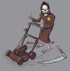 Grim Reaper med nyt grej. Så skal der høstes! :-D Grim Reaper, Deadpool, Superhero, Fictional Characters, Art, Craft Art, The Reaper, Shinigami, Kunst