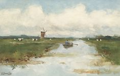 Kunsthandel A. Bies - COLLECTION - leading Dutch fine art gallery, specialized in Dutch Romantic School (Romantiek), Hague School (Haagse School) and early century paintings. Land Art, Fine Art Gallery, Gouache, Pastels, Abstract, Artist, School, Paintings, Artworks