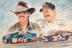 Richard Petty, King Richard, Dale Earnhardt, Nascar Racing, Cadillac, Race Cars, Old School, Chevrolet, Champion