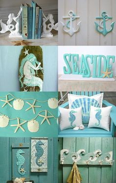 Cottage on the Beach by Erica O on Etsy--Pinned with TreasuryPin.com Coastal Decor, Cottage, Trends, Trending Outfits, Beach, Frame, Clothing, Life, Etsy