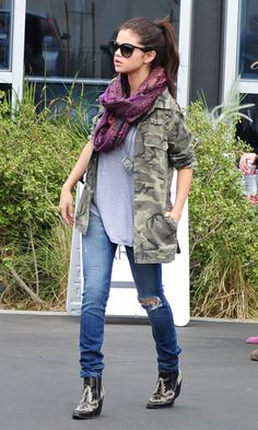 Selena Gomez Rocks A Camo Jacket Out In LA, 2013