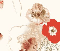 Poppies fabric by lauram on Spoonflower - custom fabric