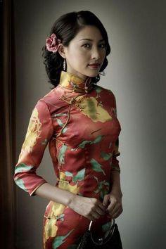 The fabrics for cheongsam