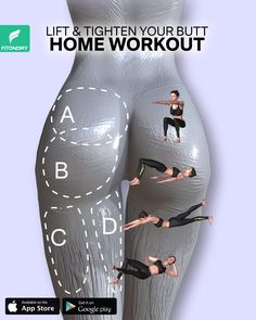 Full Body Gym Workout, Bum Workout, Gym Workout Videos, Workout Exercises, Workout Kettlebell, Weight Loss Workout Plan, At Home Workout Plan, At Home Workouts, Thigh Challenge