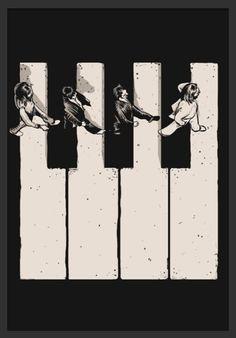 Ideas music poster art illustration the beatles Art And Illustration, Musik Illustration, Illustrations Posters, Poster Dos Beatles, The Beatles, Beatles Art, Arte Do Piano, Piano Art, Pop Art