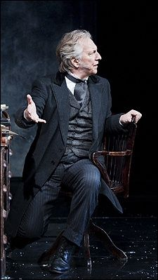 Alan Rickman in the play 'John Gabriel Borkman'.