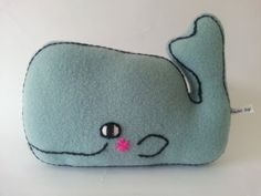 Mini whale toy by madebyswimmer on Etsy, £8.00