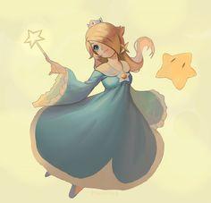 Rosalina fan art by Luyumi on DeviantArt Super Mario Brothers, Super Mario Bros, Super Smash Bros, Super Mario Princess, Nintendo Princess, Mario And Luigi, Mario Kart, Harmonie Mario, Ying Y Yang