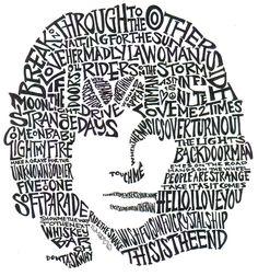 The likeness of legendary poet singer \u0026 lyricist of the Doors Jim Morrison