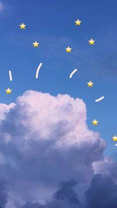Der himmel ท้องฟ้า Der himmel in 2019 Emoji Wallpaper Iphone, Kawaii Wallpaper, Pastel Wallpaper, Cute Wallpaper Backgrounds, Trendy Wallpaper, Tumblr Wallpaper, Screen Wallpaper, Cool Wallpaper, Phone Backgrounds