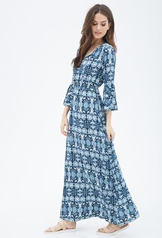 Abstract Print Maxi Dress | FOREVER21 - 2000082096