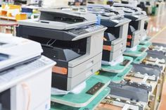 Assembly line of printers.