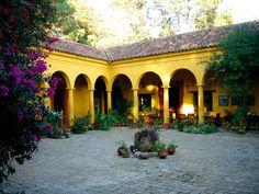 I love enclosed outdoor spaces  Chiapas, San Cristobal de las Casas, Museum-Hotel Casa Na Bolom, Courtyard