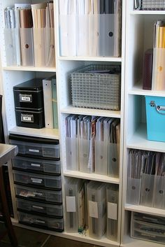Craft Room Ideas IKEA | Craft Room Ideas / ikea unit clear storage with pops of color