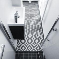 •Appartement LMD• 35m2 with tiny b&w bathroom #architectureinterieure #architectedinterieur #interiordesign #renovation #decoration… Understairs Toilet, Downstairs Loo, Decoration, Vanity, Interior Design, Bathroom, Instagram, Home, Children