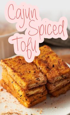 Cajun Spiced Tofu! Perfect with anything! Try almond flour instead of conventional wheat flour.