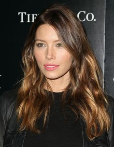 Balayage, a.k.a. hair painting, is a technique in which the colorist places color where the sun would hit for a natural-looking effect—like Jessica Biel's.   - MarieClaire.com