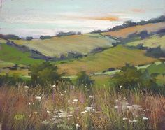 'A Fresh and Fair Land' 11x14  pastel        ©Karen Margulis - Painting My World: Pastels in Ireland Part 1: Art in the Open