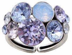 Konplott Ring Petit Glamour blau lila