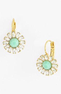 kate spade new york 'estate garden' drop earrings Teal Jewelry, Antique Jewelry, Gemstone Jewelry, Jewelry Box, Jewelry Accessories, Women Jewelry, Stylish Jewelry, Diamond Are A Girls Best Friend, Things To Buy