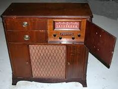 Image result for console radio record player
