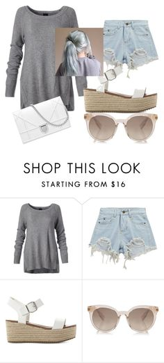 """Untitled #1674"" by aurorazoejadefleurbiancasarah ❤ liked on Polyvore featuring Chicnova Fashion and Steve Madden"