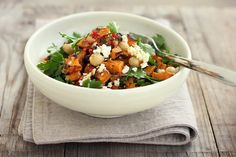 Roast kumara, chickpea + feta salad w/ spiced lemon dressing | My Darling Lemon Thyme