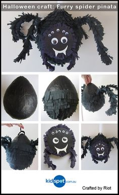 Make your own special Halloween pinata this Halloween and be a part of the biggest Halloween party on the block. A spider pinata for your friends!