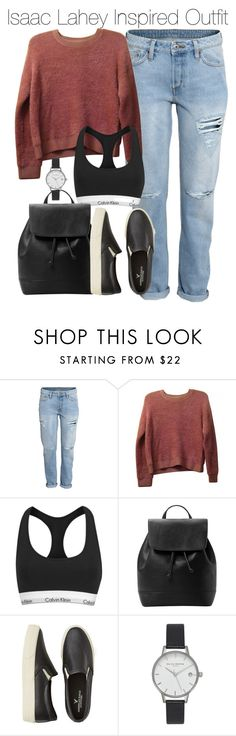 """""""Isaac Lahey Inspired Outfit"""" by staystronng ❤ liked on Polyvore featuring H&M, Topshop, Calvin Klein, MANGO, American Eagle Outfitters, Olivia Burton, autumn, tw and IsaacLahey"""