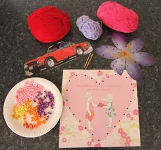 Use old calendar pictures to make lacing cards.