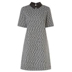 533df0ef712 Valentino Skyline-print high-neck tunic dress ($3,590) ❤ liked on Polyvore  featuring dresses, blue multi, blue mini dress, long sleeve mini dress, …