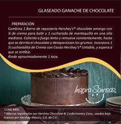 ¡La #MiniReceta que te hacía falta para tus postres! #Hersheys #Chocolate #InspiraSonrisas #Repostería #Postres #Receta #DIY #Bakery #Pastel