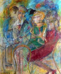 """Café"" (1983). San Salvador, 1924 Rosa Mena Valenzuela started her painting studies at the academy of Spanish painter Valero Lecha. This great Salvadoran painter has been honored by major Governmental Organizations and the civil society in recognition to her outstanding work for the national fine arts. ."