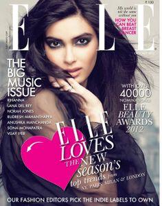 Diana Penty for Elle India October 2012
