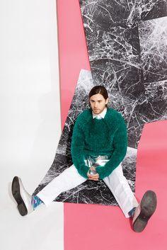 Paul Smith Sweater, Siki Im Apron, Dior Homme Shirt, Calvin Klein Pants, Jared's own Socks, Comme des Garçons Shoes Jared Leto