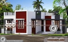One Story Ranch Style House Plans with Kerala Contemporary House Plans And Elevations Having Single Floor, 2 Total Bedroom, 3 Total Bathroom, and Ground Floor Area is 640 sq ft, Hence Total Area is 640 sq ft Garage House Plans, House Plans One Story, Ranch House Plans, Bedroom House Plans, Story House, Modern House Floor Plans, Contemporary House Plans, Ranch Style Homes Country, Indian House Plans