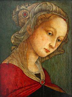 Scuola Filippo Lippi, Saint Catherina, century, tempera on panel Renaissance Portraits, Renaissance Paintings, Italian Renaissance, Renaissance Art, Madonna, Classical Art, Italian Art, Medieval Art, Sacred Art