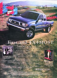 1995 Toyota Tacoma 4x4 Pickup Vintage Ad #025959