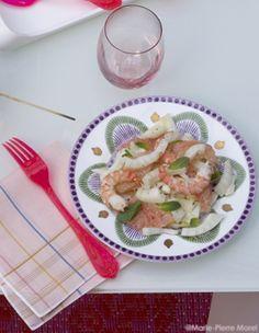 Salade de fenouil, pamplemousse et crevettes pour 4 personnes - Recettes Elle à Table