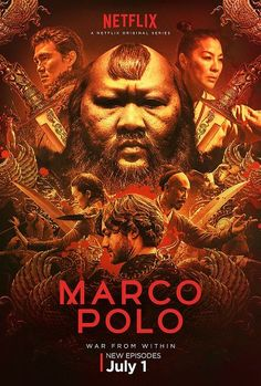 Marco Polo: Season 2 Trailer and Poster. Netflix's Marco Polo: Season 2 TV show trailer and TV show poster star Lorenzo Richelmy, Benedict Wong Lorenzo Richelmy, Kublai Khan, Black Hawk Down, Marco Polo Netflix, Remy Hii, Musik Hits, Polo Watches, Peter Wohlleben, Royal Tv Show