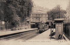 Les gares du Paris d'antan La gare de Passy (16ème arrondissement) vers 1900.