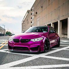 BMW in Fierce Fuchsia wrap Bmw M3 Sedan, F80 M3, Automobile, Bmw Series, Fancy Cars, Bmw E46, Car Wrap, Luxury Cars, Dream Cars