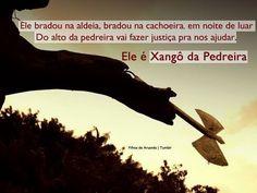 """Xangô nos proteja e nos cubra de benção  """"Lá em cima daquela pedreira Tem um livro que é de Xangô Kaô kaô Kaô é kabecile é de Xangô."""" #Umbanda #CabocloTaperoa #Fé #Religião #QuartaFeira #Iansã #Xangô #Reys #Kaô #AssimSeja  by caboclotaperoa"""