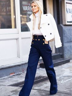 Trend Report: Sailor-Inspired Trousers | WhoWhatWear.com