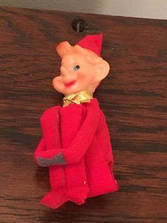 Vintage Christmas Knee Hugger Pixie Elf Red Delta Japan by VintageLove50 on Etsy